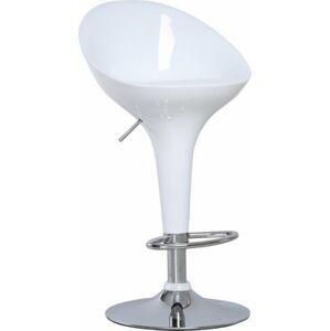 Tempo Kondela Barová židle ALBA NOVA - chrom / bílá + kupón KONDELA10 na okamžitou slevu 3% (kupón uplatníte v košíku)