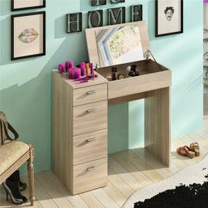 Tempo Kondela Toaletní stolek BELINA - dub sonoma + kupón KONDELA10 na okamžitou slevu 3% (kupón uplatníte v košíku)