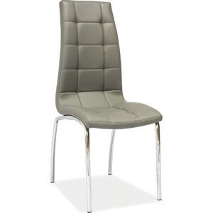 Casarredo Jídelní čalouněná židle H-104 šedá