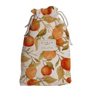 Cestovní vak s příměsí lnu Linen Couture Blue Oranges, délka 44 cm