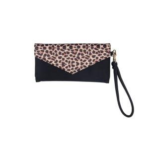 Černá peněženka s leopardím motivem Tri-CoastalDesign