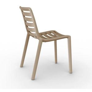 Sada 2 pískově hnědých zahradních židlí Resol Slatkat