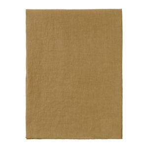Žlutý lněný běhoun na stůl Blomus, 45x140cm
