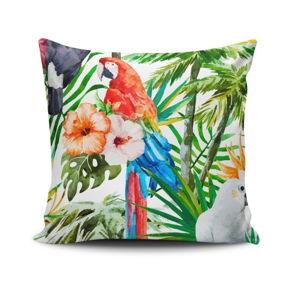 Polštář s příměsí bavlny Cushion Love Flowers, 45 x 45 cm