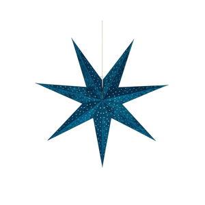 Modrá závěsná světelná dekorace Markslöjd Velours,výška75cm