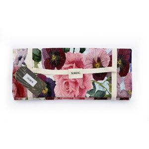 Pikniková deka Surdic Manta Picnic Flowers s motivem květin, 140x170 cm