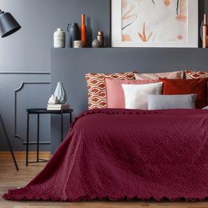 Červený přehoz přes postel AmeliaHome Tilia, 220x240cm
