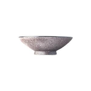 Béžová keramická vysoká miska na polévku MIJ Earth,ø24cm