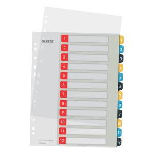 Numerický rejstřík s 12 štítky Leitz, A4
