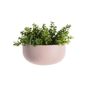 Světle růžový nástěnný keramický květináč PT LIVING Nest