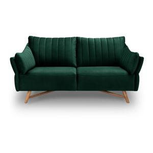 Tmavě zelená sametová pohovka Interieurs 86 Elysée, 174 cm