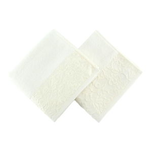 Sada dvou bílých ručníků Empire, 90x50cm
