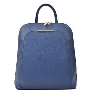 Modrý dámský kožený batoh Renata Corsi