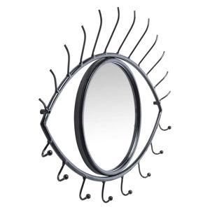 Kovový nástěnný věšák sezrcadlem Kare Design Leaf Eye Mirror, šířka41cm