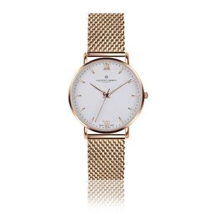 Dámské hodinky s páskem z nerezové oceli v barvě růžového zlata Frederic Graff Dent