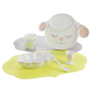 Dětský jídelní porcelánový set Brandani Lamb