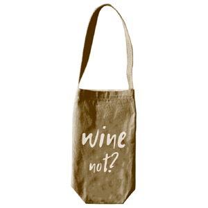 Obal na víno či šampaňské Linen Couture Wine Not, výška 30 cm