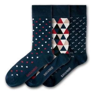 Sada 3 párů unisex ponožek Black&Parker London Eden Projects, velikost 37 - 43