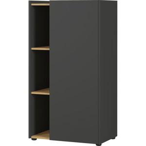 Černo-hnědá skříňka Germania Austin, výška 115 cm