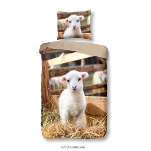 Dětské bavlněné povlečení Good Morning Lamb, 140 x 200 cm