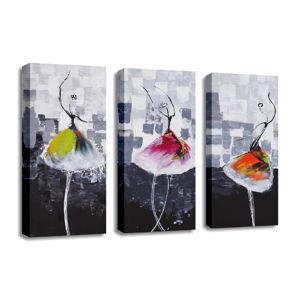 3 dílný obraz na plátně Dancers