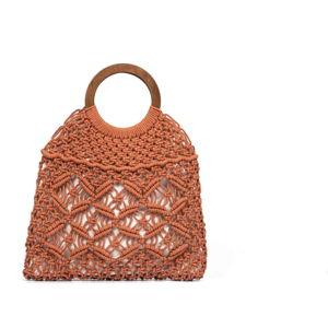 Hnědá dámská bavlněná kabelka Nina Beratti Kamea Terra