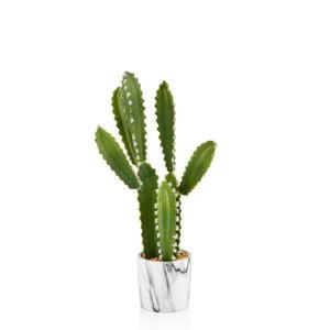 Umělý kaktus v mramorovém květináči The Mia Cacti