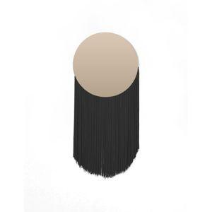 Nástěnné zrcadlo s dekorativními třásněmi Surdic Moon Negro