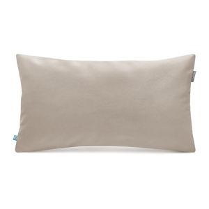 Béžový povlak na polštář se sametovým povrchem Mumla Velvet, 30 x 50 cm