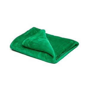 Zelená mikroplyšová deka My House, 150 x 200 cm