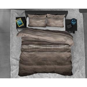 Hnědé flanelové povlečení na jednolůžko Sleeptime Marcus Taupe,140x220cm