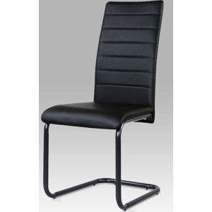 Autronic Jídelní židle DCL-101 BK - koženka černá / černý lak