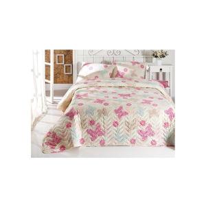 Sada přehozu přes postel a povlaku na polštář Papillon, 160 x 220 cm