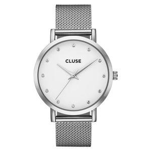 Dámské hodinky z nerezové oceli ve stříbrné barvě Cluse La Bohéme Pavane Stones