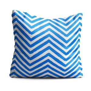 Dětský polštář OYO Kids Blue Zig Zag, 40 x 40 cm