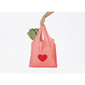 Růžová nákupní taška DOIY Heart
