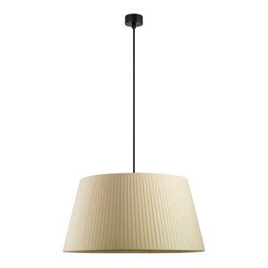Krémové závěsné svítidlo s černým kabelem Sotto Luce Kami, ⌀54cm