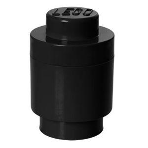 Černý úložný kulatý box LEGO®