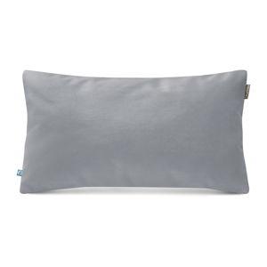 Světle šedý povlak na polštář se sametovým povrchem Mumla Velvet, 30 x 50 cm