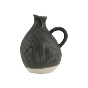 Černá kameninová váza A Simple Mess Tyst, výška18cm