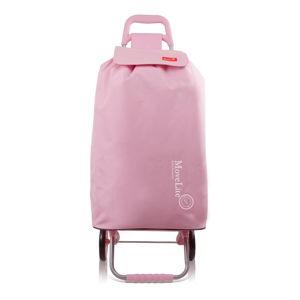 Růžová nákupní taška na kolečkách Bluestar Amsterdam, 104 l