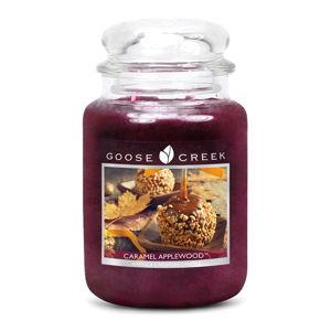 Vonná svíčka ve skleněné dóze Goose Creek Karamelová jabloň, 150 hodin hoření
