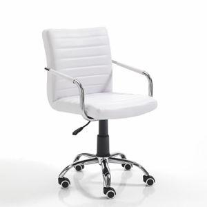 Bílá kancelářská židle na kolečkách Tomasucci Milko