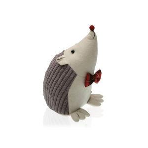 Šedá zarážka do dveří ve tvaru ježka Versa Hedgehog