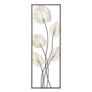 Kovová závěsná dekorace se vzorem listů MauroFerretti Luxy-A-, 31x90cm