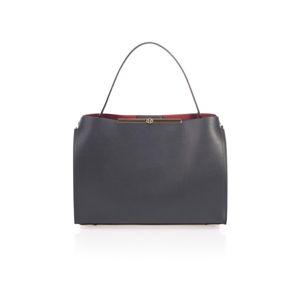 Šedá kožená kabelka Lisa Minardi Ganna