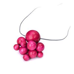 Dřevěný růžový náhrdelník Ko-ra-le Lucky