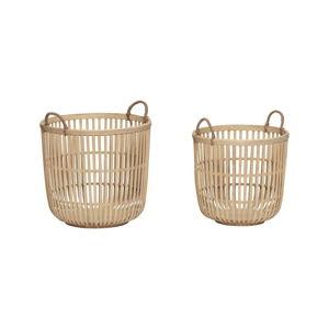 Sada 2 úložných bambusových košíků Hübsch Tareo
