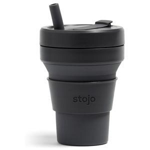Černý skládací hrnek Stojo Titan Carbon, 710 ml