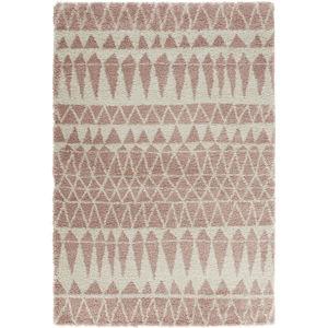 Šedorůžový koberec Mint Rugs Allure Rose, 200x290cm